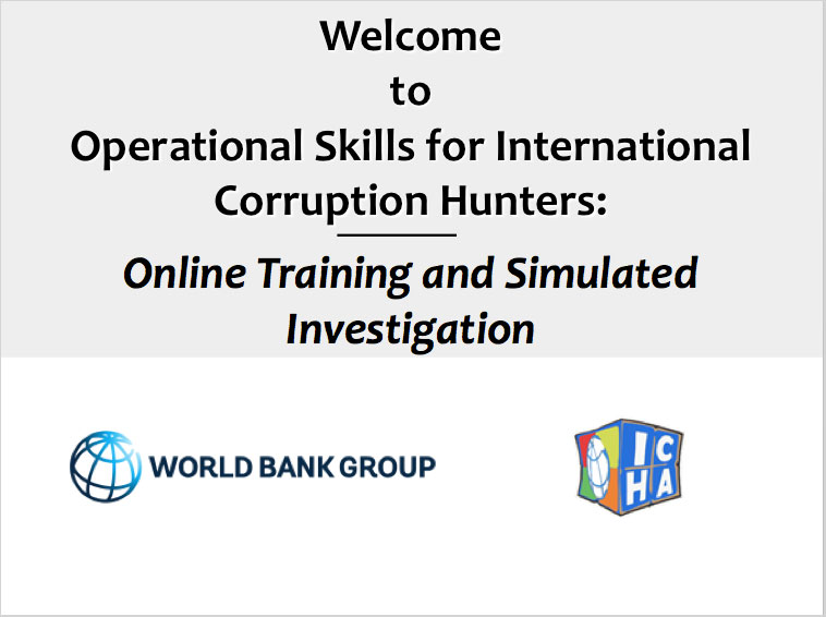 Operational Skills for International Corruption Hunters